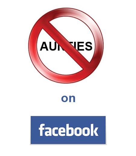 Say No to aunties on Facebook!